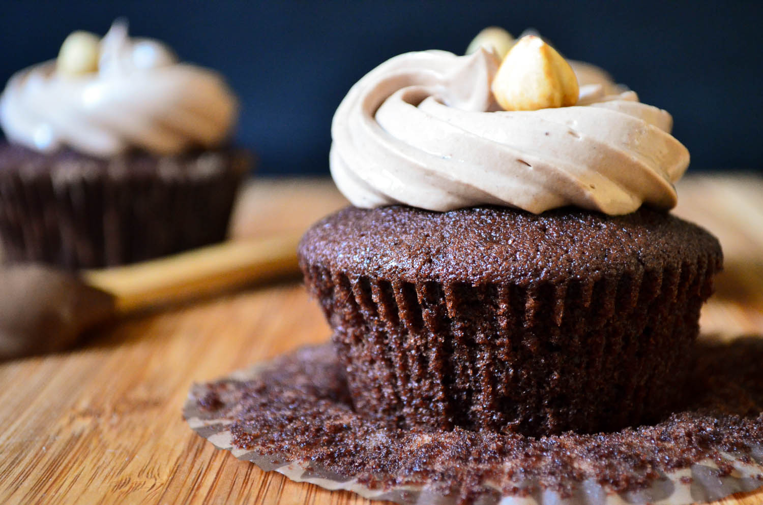 with nutella cupcakes nutella banane 001 i left the cupcakes in the ...