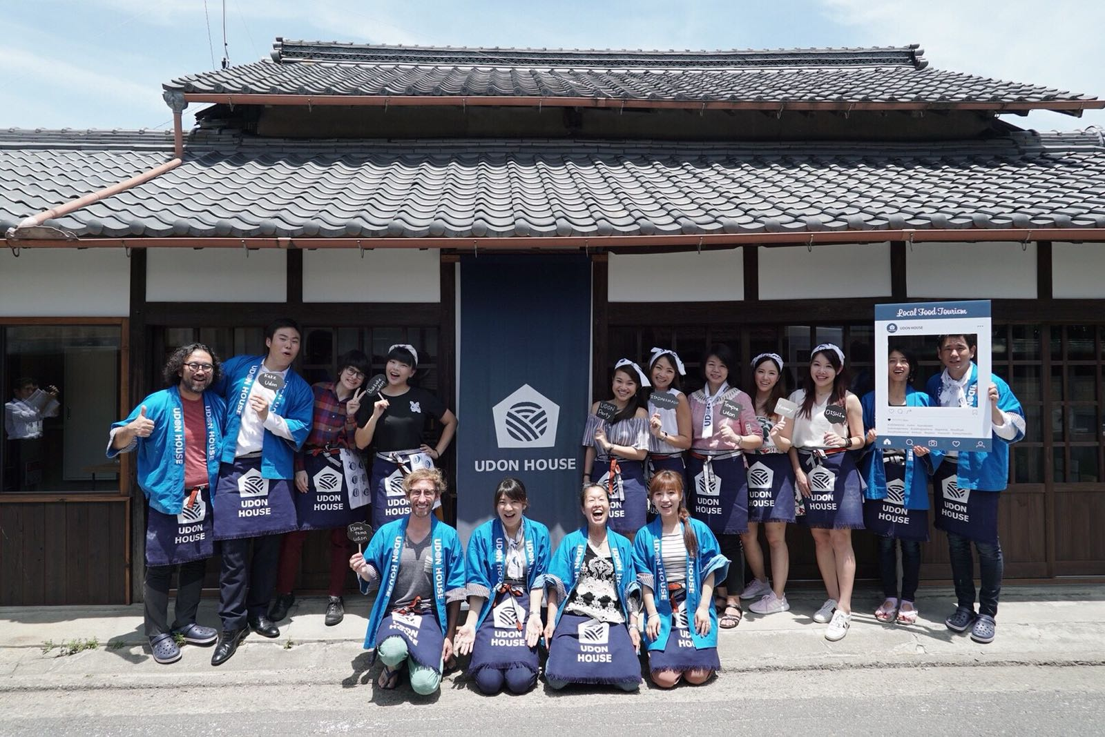 group picture of udon house