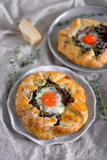 mushroom egg galette
