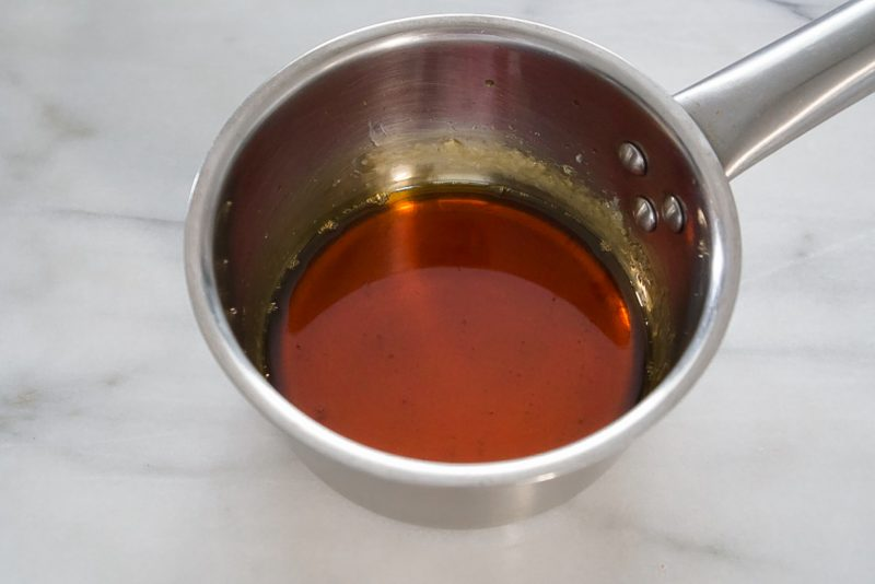 caramel sauce in pot