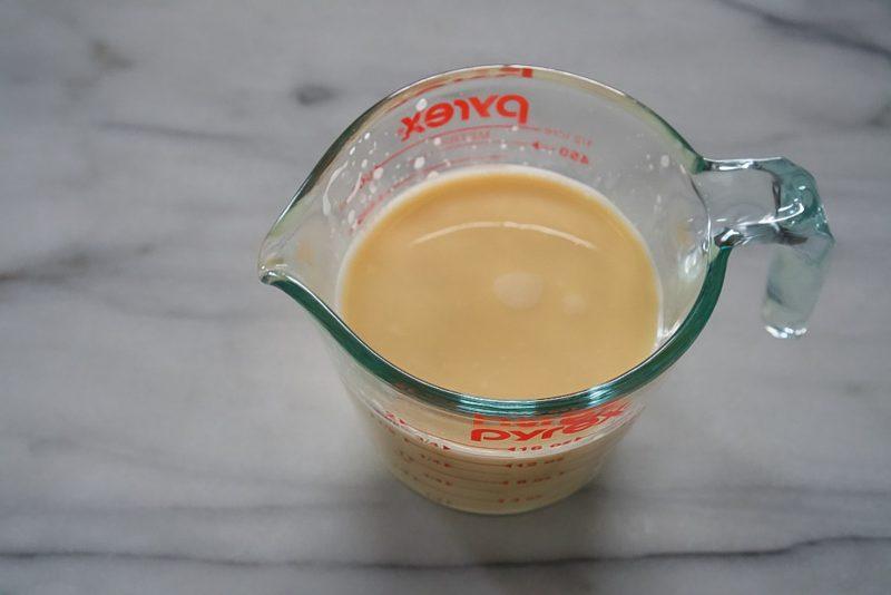 custard in pyrex cup