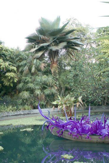 purple art in boat-gardens by the bay
