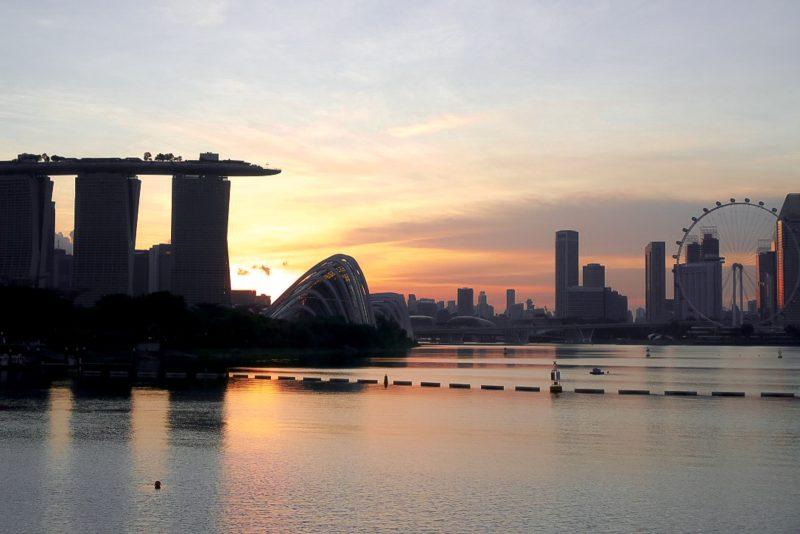 sunset from marina barage