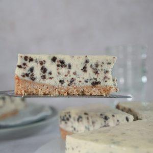 slice of Oreo cheesecake